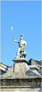 One of the Guards atop Dublin Palace