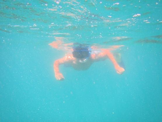 Little G snorkeling