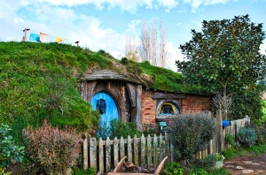A hobbit hole only used for exterior shots nothing inside.