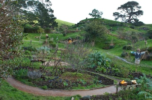 The hobbit garden (lots of plastic plants).