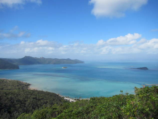 The hike above the One and Only Resort on Hayman Island