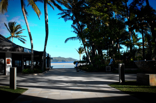 Upon return from the hike you walk into the gorgeous entrance of the One&Only Hayman Island