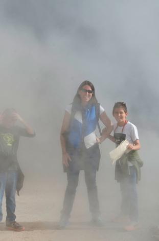 Gassy tourists at Wai-O-Tapu