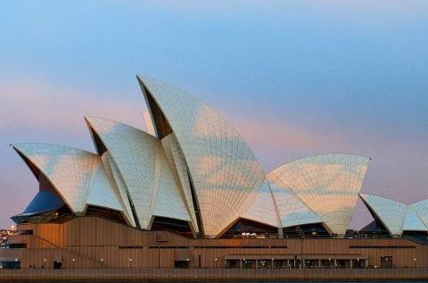 The Sydney Opera House at 6am